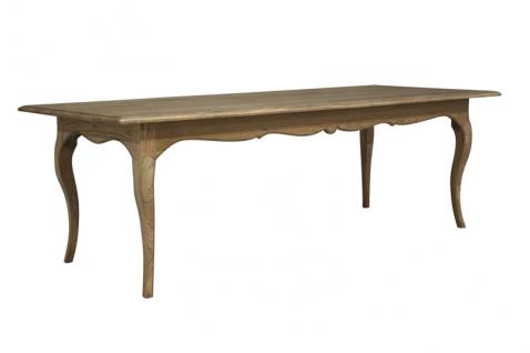 Block & Chisel solid weathered oak dining table