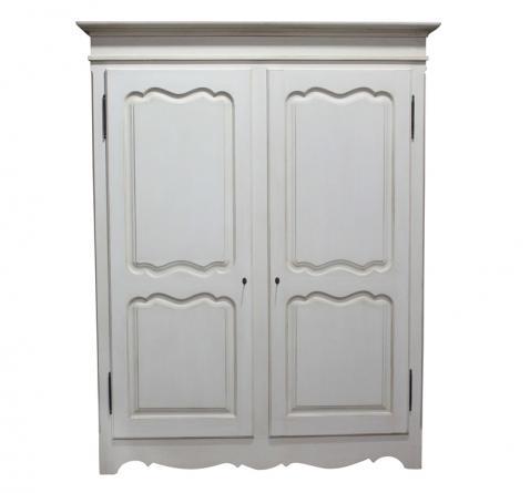 Block & Chisel double door white wardrobe made in south africa