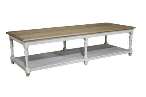 Block & Chisel two-tone weathered oak coffee table