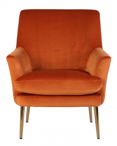 Orange velveteen seating