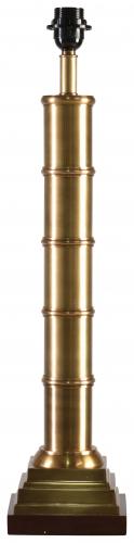 Block & Chisel brass and wood lampbase