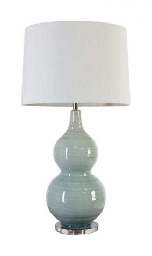 Blue ceramic lampbase and shade