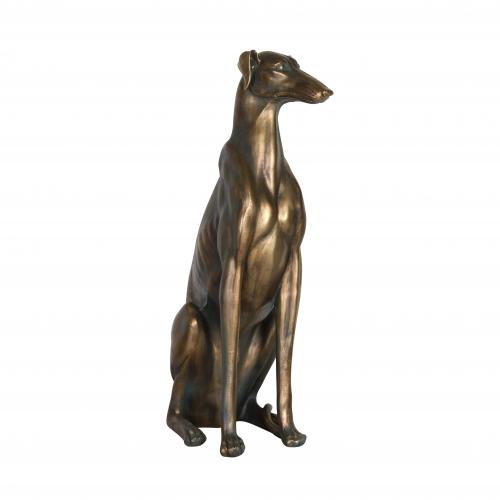 Bronze resin large floor greyhound dog statue