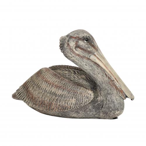 pelican resting statue ornament
