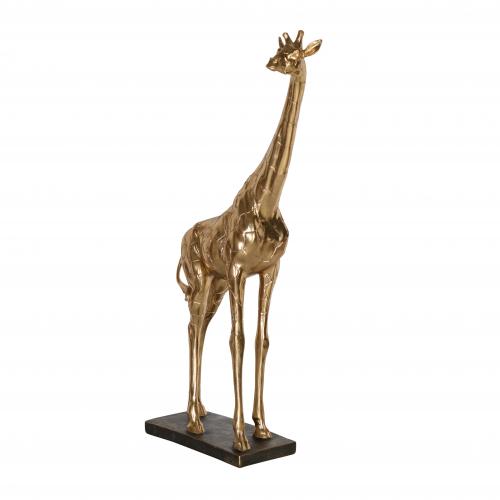 Smaller gold giraffe statue