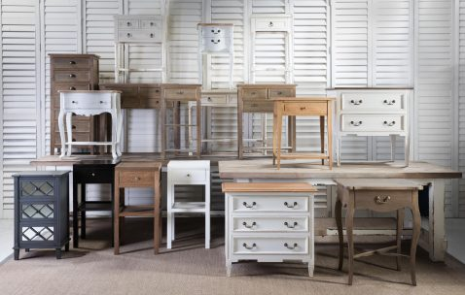 Block & Chisel weathered oak bedside table in flat white
