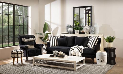 roseanne chair in black velvet