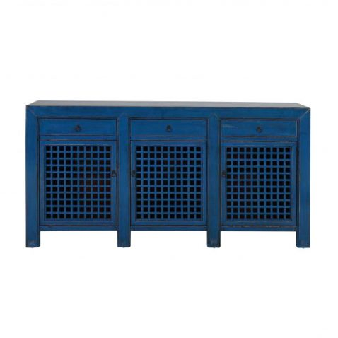 blue lacquered chinese sideboard