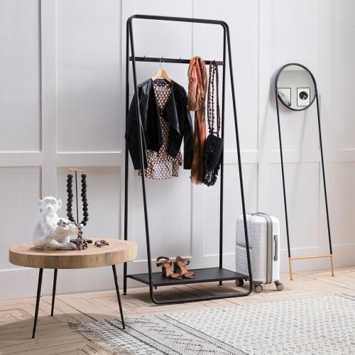 Block & Chisel iron clothing rail with black finish