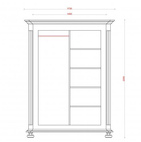 Block & Chisel solid oak armoire in antique white