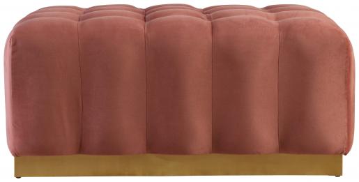 Block & Chisel pink velvet upholstered ottoman
