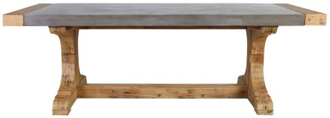 Block & Chisel rectangular concrete dining table with acacia wood
