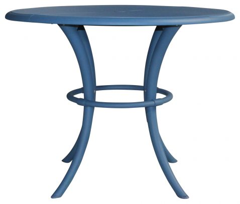 Block & Chisel round Norway blue nylon dining table