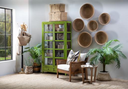 Sharon Weaved Plate - wall hanging basket