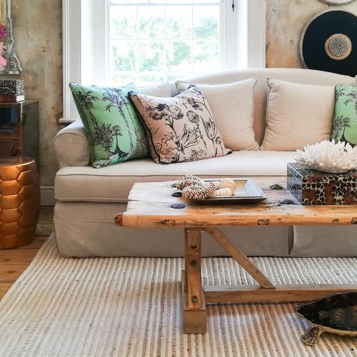 Cheslin Coffee Table - reclaimed elm wood rustic coffee table