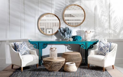 Block & Chisel round mirror
