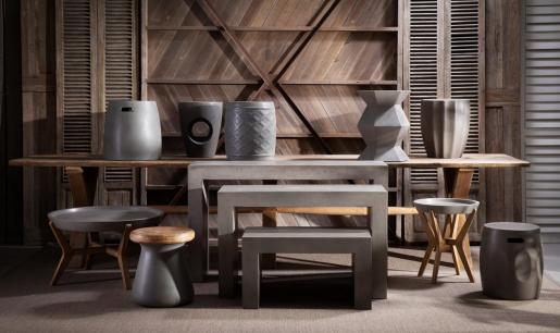 Block & Chisel dimensional concrete stool
