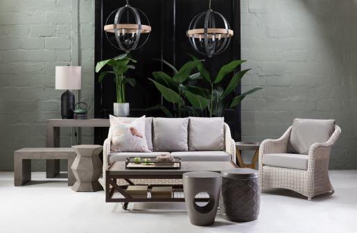 Block & Chisel round concrete stool