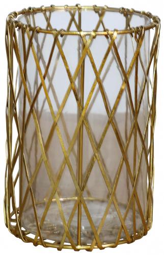 Block & Chisel round iron and glass lantern