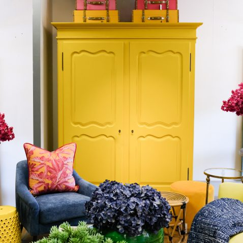 Block & Chisel double door yellow wardrobe made in south africa