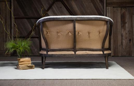 Block & Chisel ivory upholstered 2 seater sofa