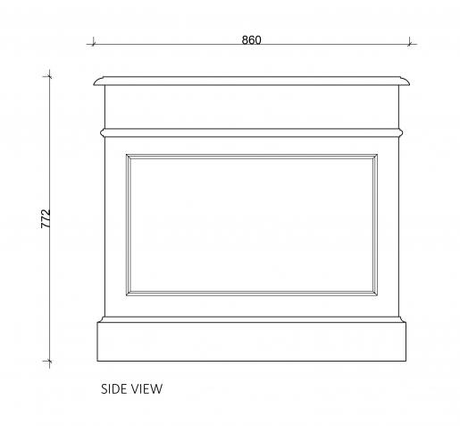 Block & Chisel solid weathered oak pedestal desk