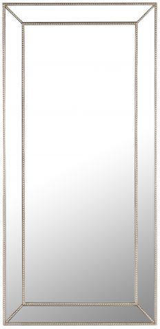 Block & Chisel rectangular mirror with wooden and glass frame