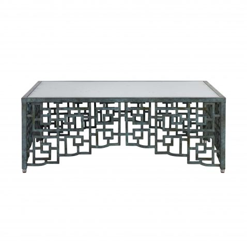 metal and glass top coffee table