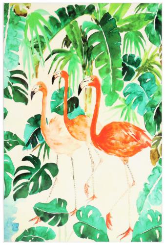 Block & Chisel flamingo print
