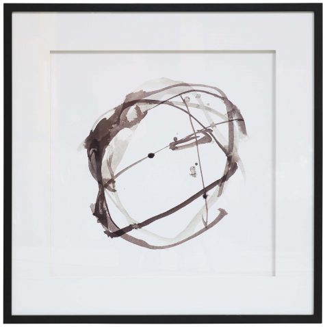 Block & Chisel square abstract print with black frame