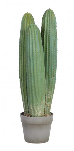 Green short artificial faux cactus houseplant