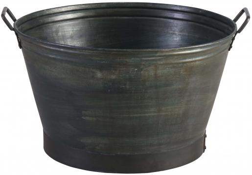 Block & Chisel round galvanised iron tub
