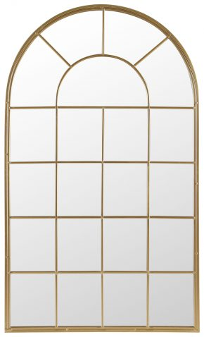 Block & Chisel cathedral arched mirror with iron frame