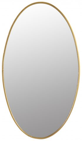 Block & Chisel oval iron mirror with antique gold finish