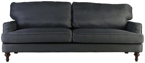 Block & Chisel charcoal upholstered sofa bed with wooden legs
