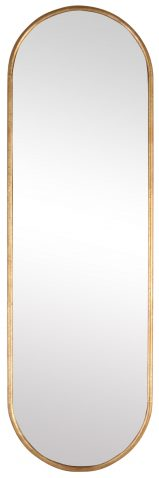 Block & Chisel oblong mirror with iron frame and gold antique finish