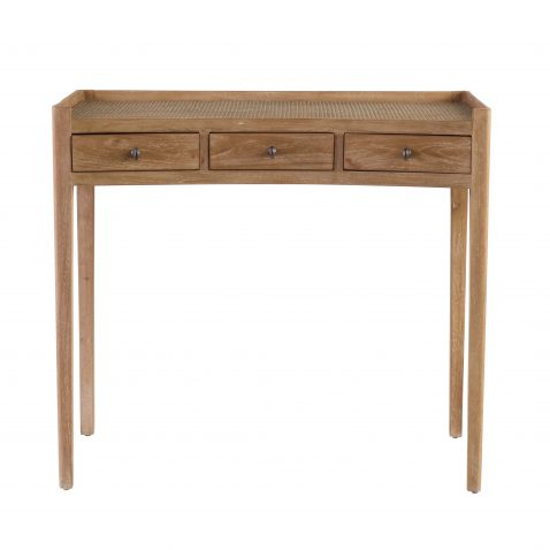 writing desk or vanity desk with weaved top