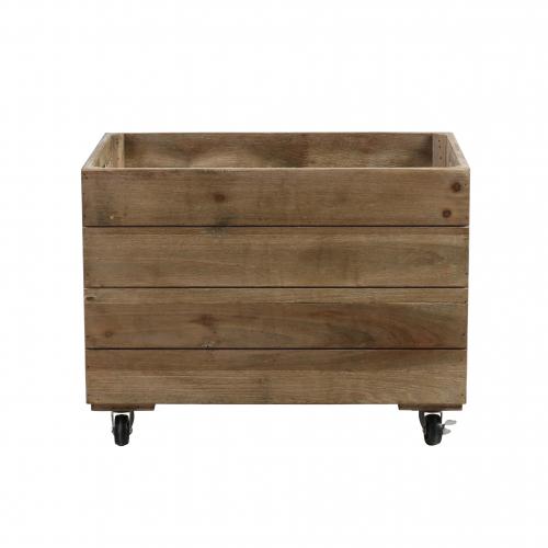 Large wooden crate on castors
