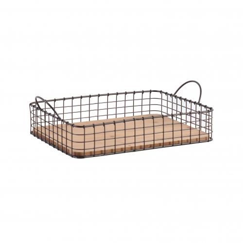 Metal wire frame basket tray