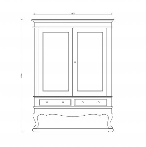 Block & Chisel solid weathered oak drinks cabinet