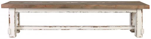Block & Chisel rectangular pine distressed bench