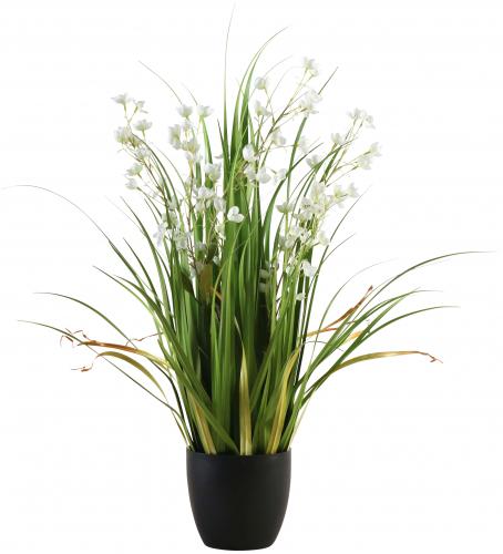 Block & Chisel faux grass in plastic pot