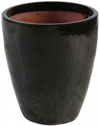 Block & Chisel terracotta pot with black glaze