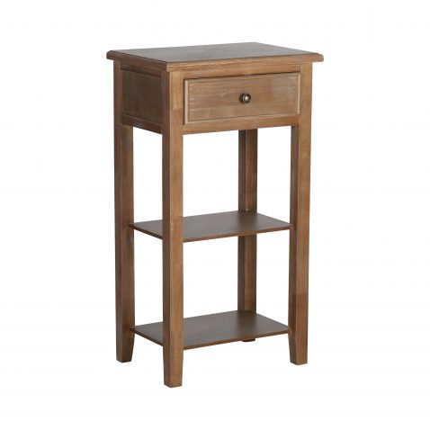 1 drawer bedside table with shelf