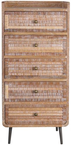 Block & Chisel paulownia wood tallboy