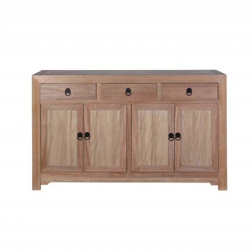 4 door 3 drawer Natural Teak sideboard