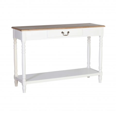 white console with wood top