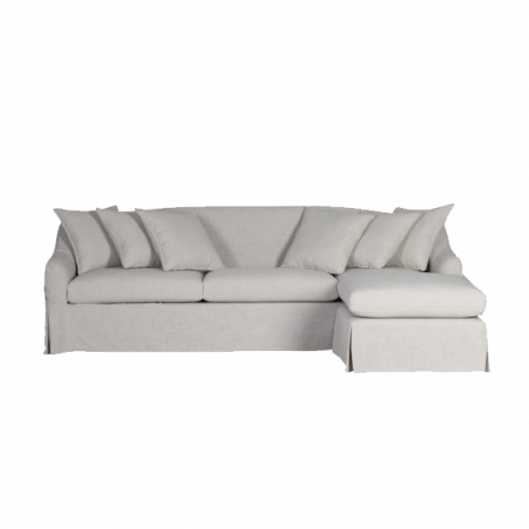 Slipcover corner unit with interchangeable daybed ottoman