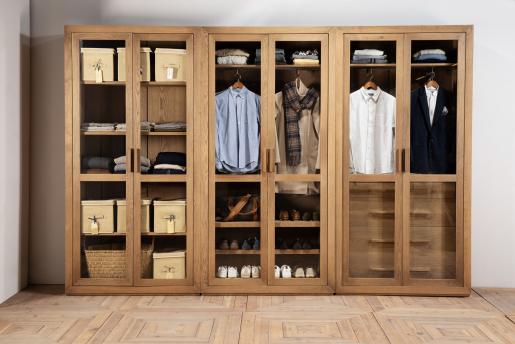 block and chisel Arman display wardrobe in brushed oak