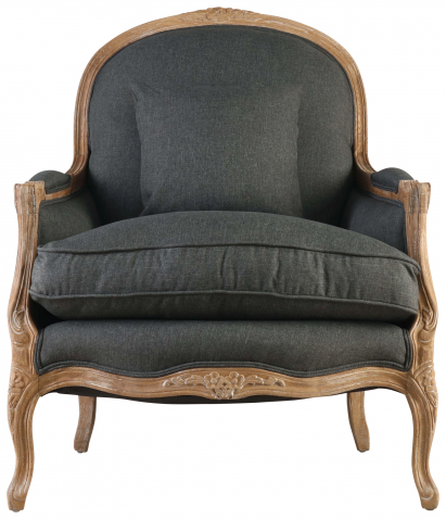 Block & Chisel charcoal upholstered lounge chair